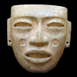 Classic Period Teotihucan Mask from the Lacy Gallery Art of The Americas Collection