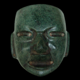 Olmec Greenstone Mask from the Lacy Gallery Art of The Americas Collection