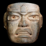 Olmec Stone Mask from the Lacy Gallery Art of The Americas Collection