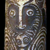 Rare Gopi Spirit Board from the Lacy Gallery Art of Oceania Collection